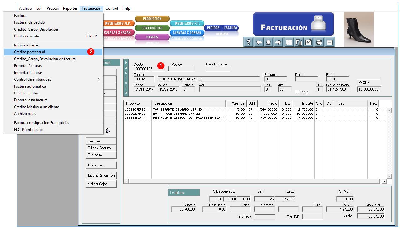 3. CFDI 3.3 Ejemplos de Factura y Nota de crédito – Proscai